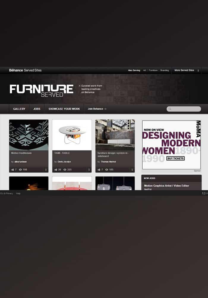 Furniture Served_Behance // noiember 2014