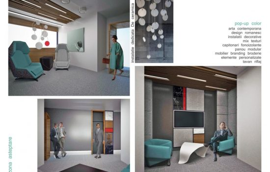 Rendering proposal for office space_collab Poteca Studio